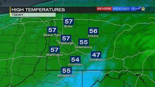 Temperature forecast for Saturday (4/22/17)