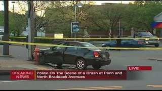 At least 1 person hurt after chase, crash on Penn Avenue