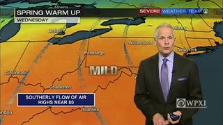 Temperatures heating up this week (4/24/17)