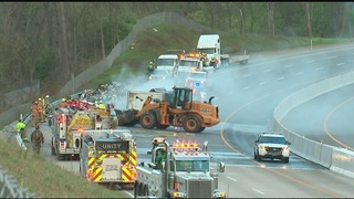 Turnpike reopens after fiery crash overnight