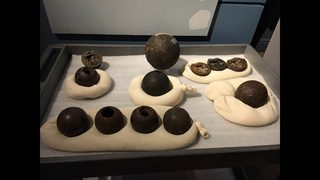 PHOTOS: Civil War-era cannonballs being removed from construction site