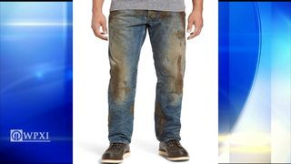 Nordstrom is selling fake muddy jeans
