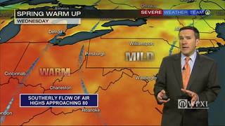 Warm up begins Wednesday (4/25/17)