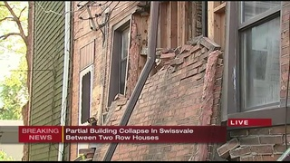 Crews at scene of partial building collapse in Swissvale