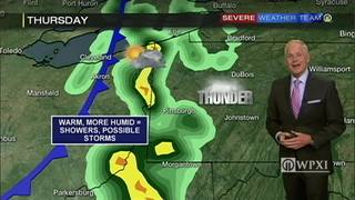 Humid and warm weather tomorrow leads to showers