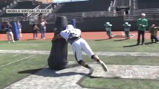 Robotic tackling dummy reduces injuries