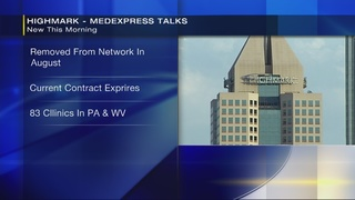 Highmark could remove MedExpress from insurance networks