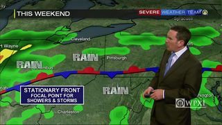 Damp, muggy weekend in store for the area