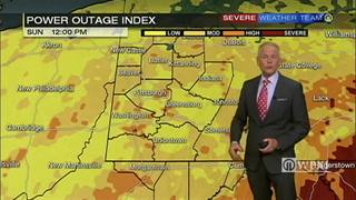 Stalled out front brings showers and storms this weekend