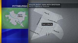 Man with shotgun shot by Pittsburgh police officer