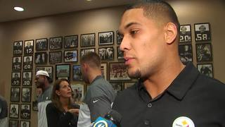RAW: Former Pitt Panther James Conner drafted by Steelers