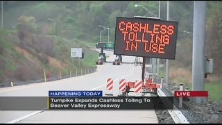 Cashless Tolling begins on Beaver Valley Expressway