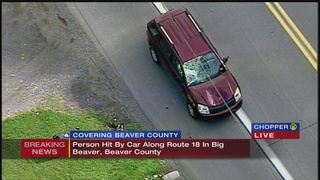 VIDEO: Person hit by car in Big Beaver