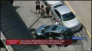 Parkway East reopens after crash