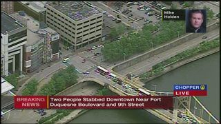 1 stabbed in downtown Pittsburgh