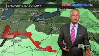 Active weather pattern with waves of rain