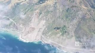 Massive landslide blocks scenic California highway