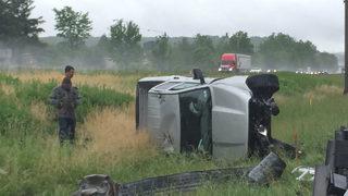 PHOTOS: Rollover crash slows traffic on I79