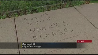 Man uses sidewalks to send messages to drug users