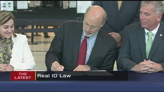 Pa. governor signs REAL ID bill into law