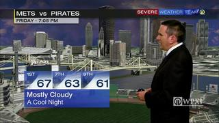 Pirates first pitch forecast for tonight