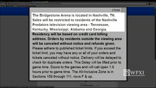 Predators block Pa. residents from Stanley Cup Final ticket sales