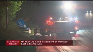Greensburg teen killed in early-morning crash on I-376