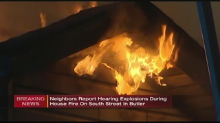 Explosions rattle homes during Butler house fire