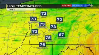High temperatures forecast for Sunday (6/25/17)