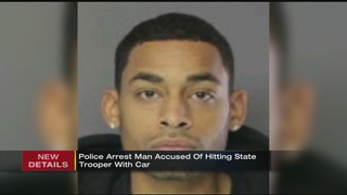 Police arrest man accused of hitting state trooper with car
