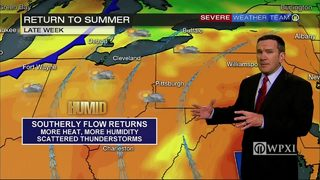 Heat, humidity returning later this week (6/27/17)