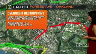 TRAFFIC: Forbes Avenue overnight restrictions (6/27/17)