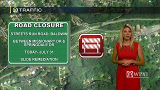 TRAFFIC: Streets Run Road closure (6/28/17)