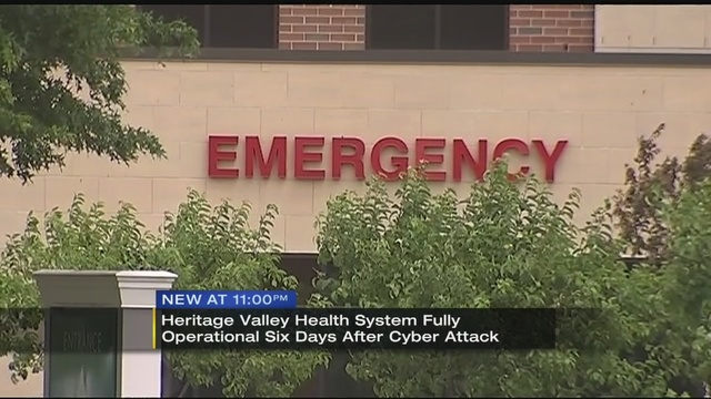 Heritage Valley Health System Back Online Will Resume Full