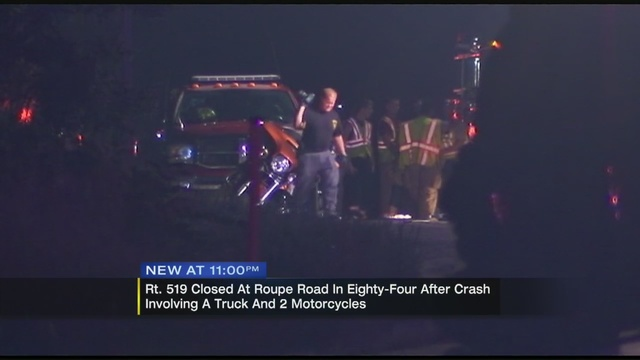 3-vehicle accident causes injuries, closure on Route 519 | WPXI