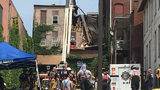 Woman trapped under refrigerator after building collapse in Washington