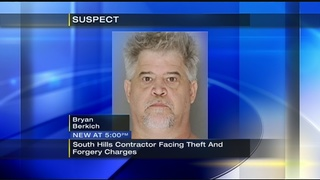 South Hills contractor facing charges after swindling homeowners of thousands