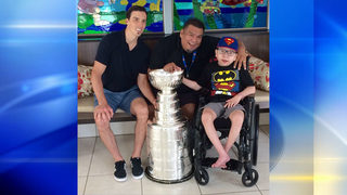 Marc-Andre Fleury shares Stanley Cup with kids at Ronald McDonald House