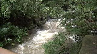 RAW: Fallingwater damaged by flooding
