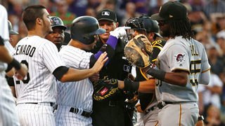 Marquez, Rockies beat Pirates 7-3 after benches empty