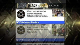 Steelers take to Twitter on 1st day of training camp