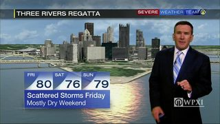 Mostly dry for Three Rivers Regatta weekend (8/1/17)