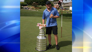 Phil Kessel eats hot dogs out of Stanley Cup
