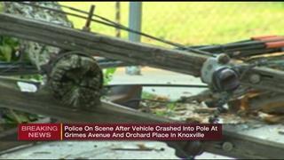 1 injured, 2 utility poles damaged in Knoxville car crash