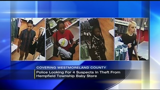 Police searching for 4 in Greensburg baby clothing store theft