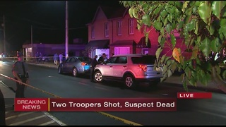 2 state troopers shot, suspect dead in Fayette County