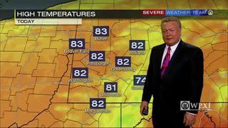 Temperatures tracking near average (8/18/17)