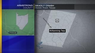 Texas man killed in truck crash in Kittanning