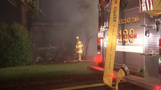 Father, son displaced after fire destroys home