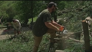 Strong storms cause damage, flooding, power outages